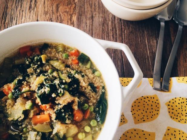 Voorjaarsminestrone met quinoa