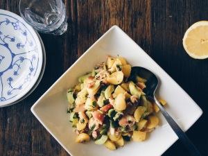 Salade met krieltjes en tuinbonen